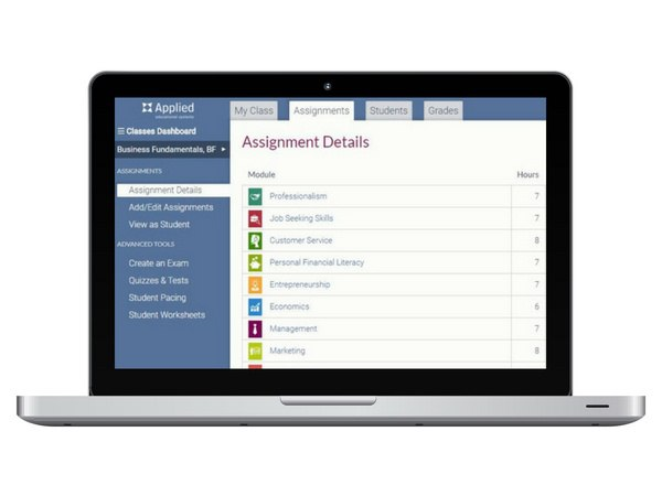 Customizable curriculum options allow you to create courses that meet NBEA standards and provide variety of information.