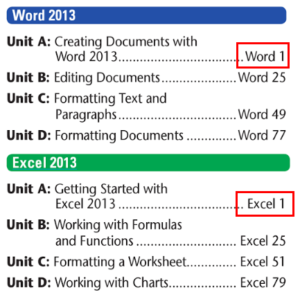 Cengage Microsoft Office 2013: Illustrated Introductory, First Course Page Numbering