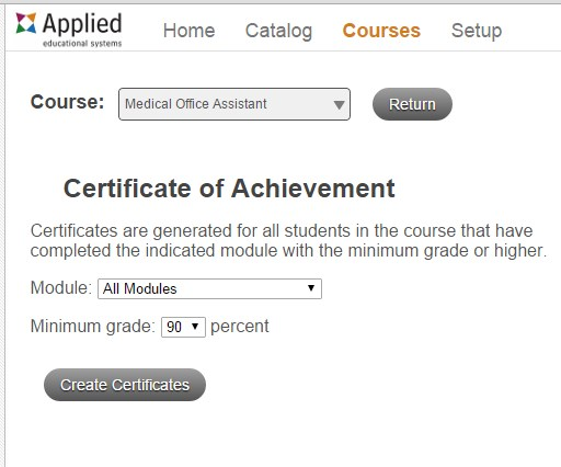 Certificate Update