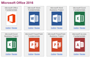 microsoft office curriculum for 2016