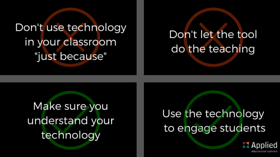 Do's and Don'ts for Tech Integration as a Student Engagement Strategy