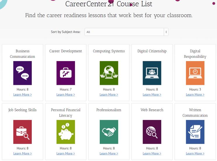 Career Exploration Curriculum Catalog