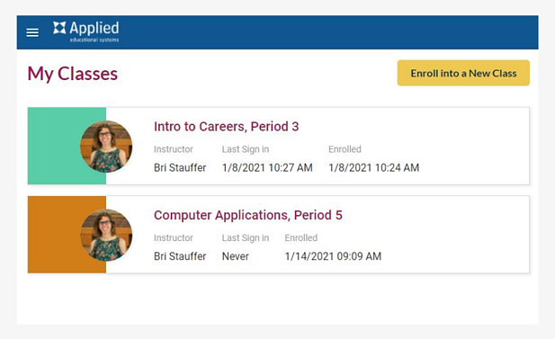 enrollment-release-my-classes-screen