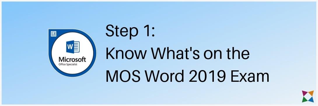 mos-word-2019-test-prep-exam