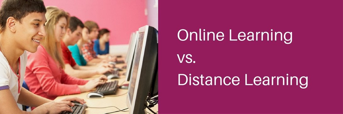What's the difference between Online Learning and Distance Learning