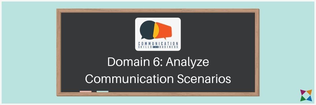 analyze communication scenarios