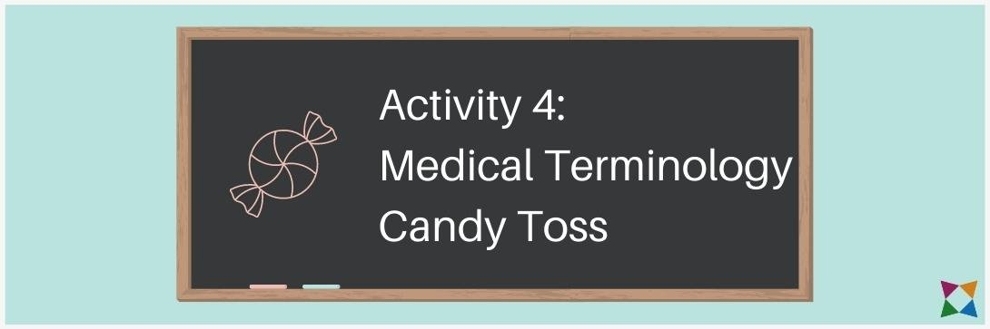 medical terminology activity candy toss