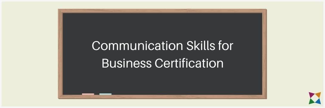 Communication Skills for Business